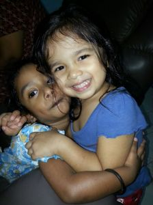 Seen here with her cousin Yuvnaa